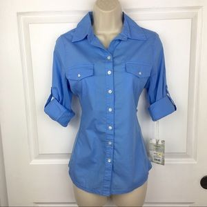 NWT Converse One Start Button Up